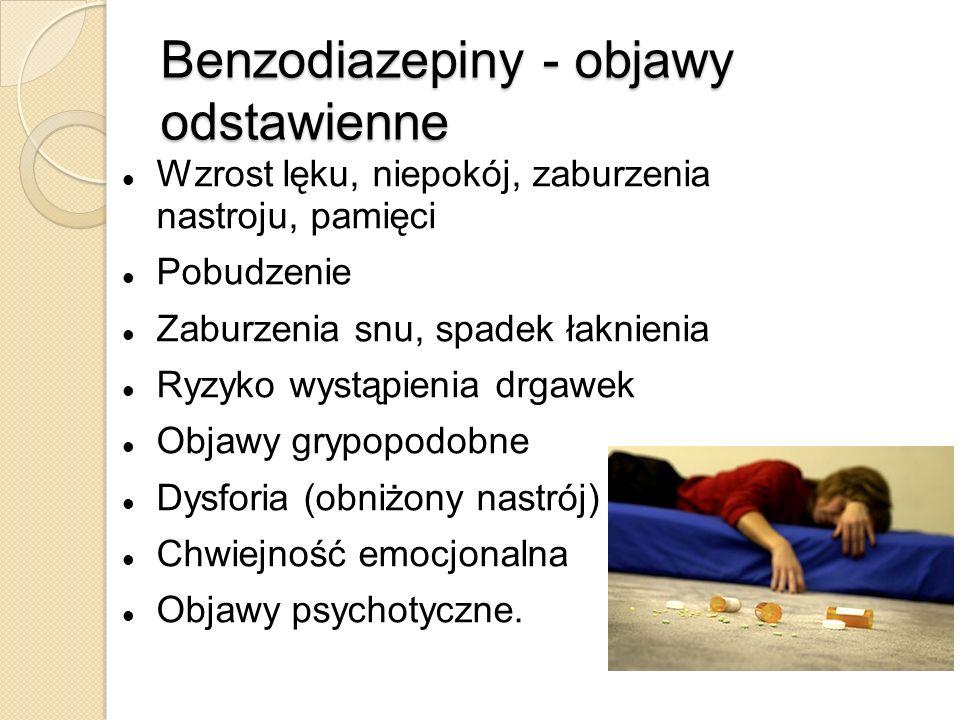 Benzodiazepiny - objawy odstawienne