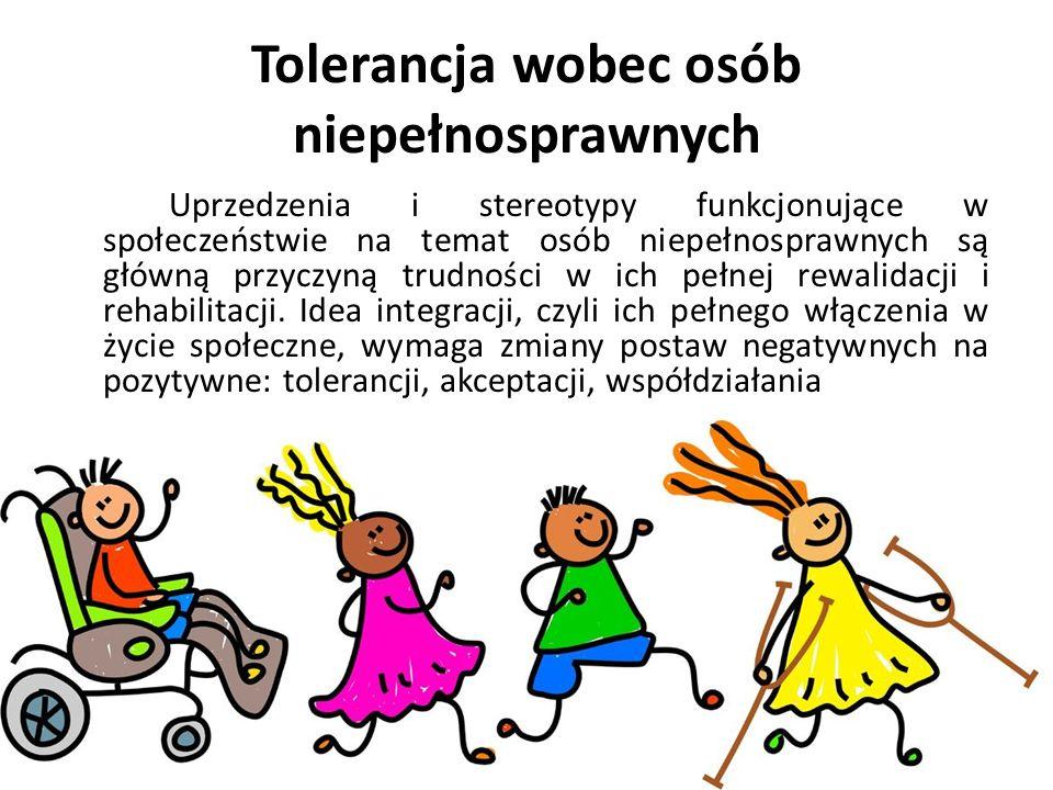 Tolerancja wobec osób niepełnosprawnych