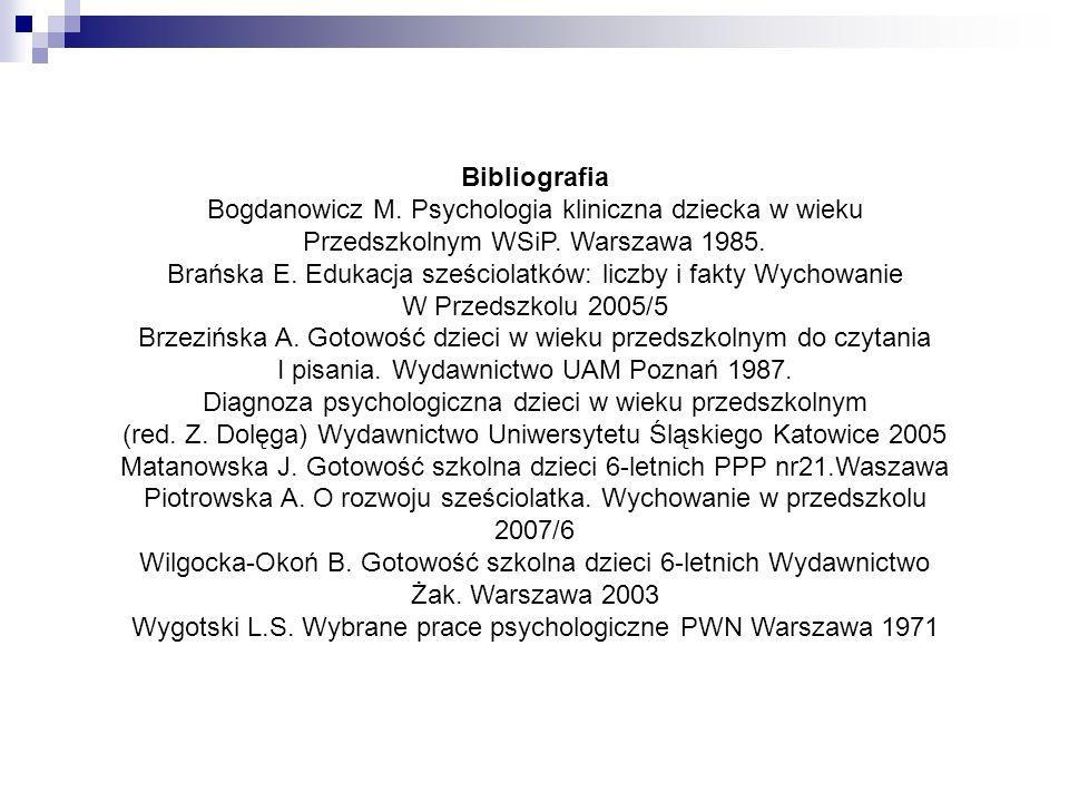 Bogdanowicz M. Psychologia kliniczna dziecka w wieku