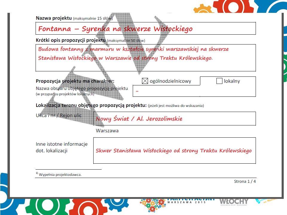 1 strona formularza