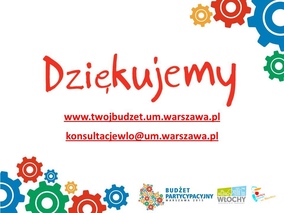 www.twojbudzet.um.warszawa.pl konsultacjewlo@um.warszawa.pl