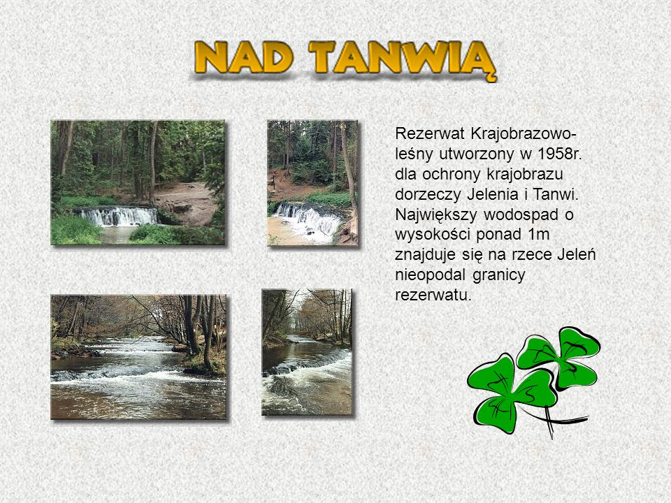 Rezerwat Krajobrazowo-leśny utworzony w 1958r