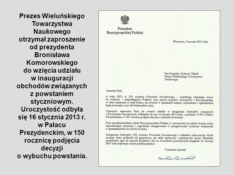 Prezes Wieluńskiego Towarzystwa Naukowego