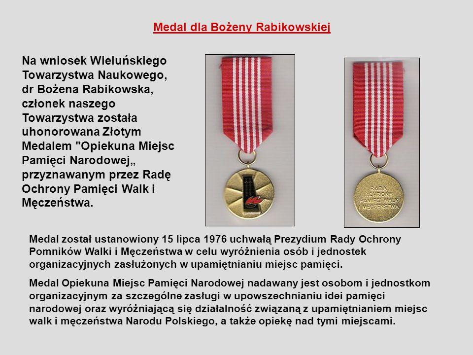 Medal dla Bożeny Rabikowskiej