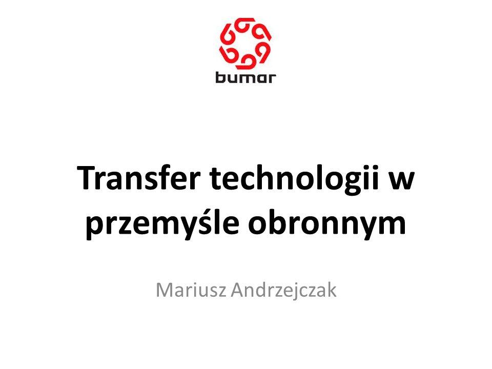 Transfer technologii w przemyśle obronnym