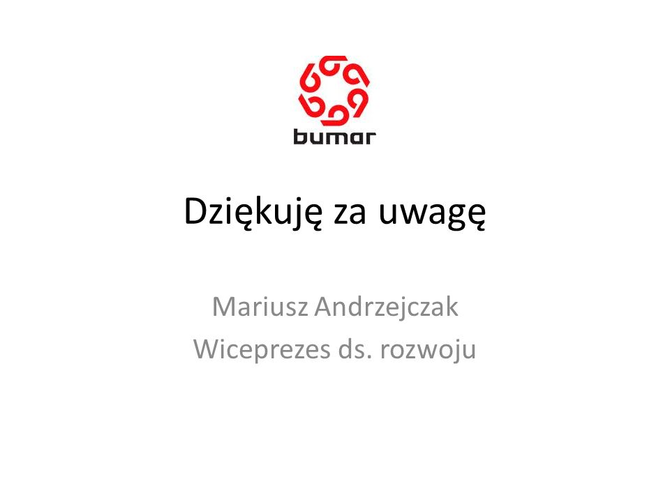 Mariusz Andrzejczak Wiceprezes ds. rozwoju