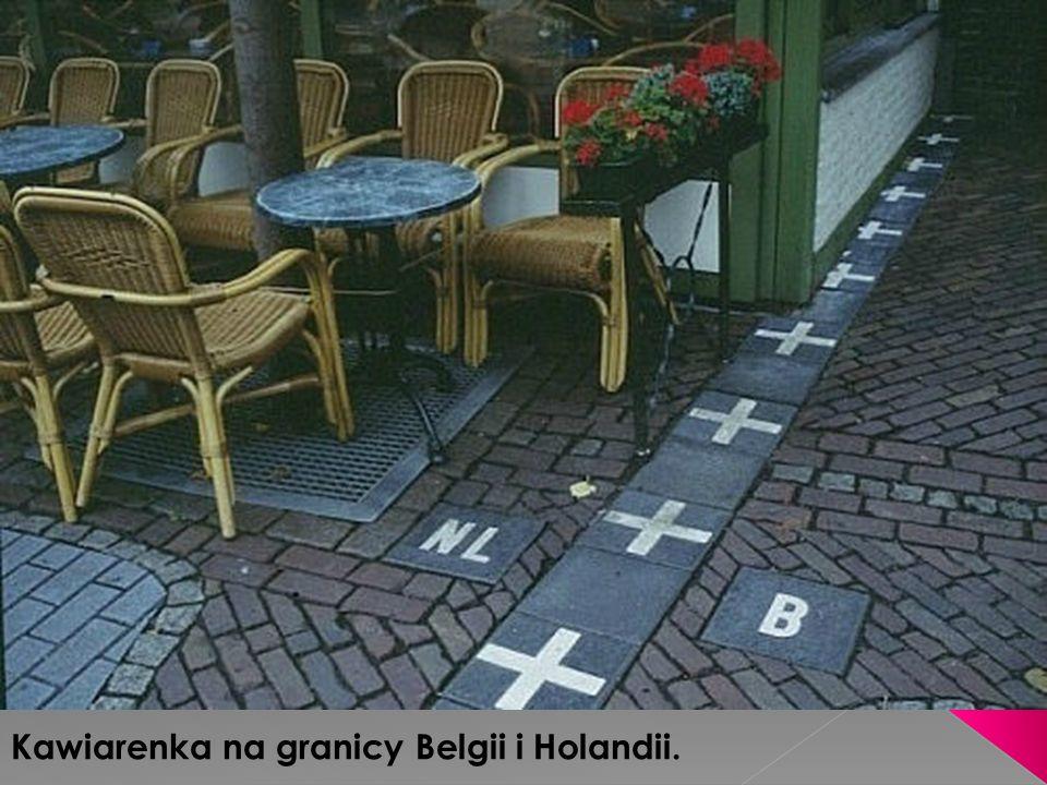 Kawiarenka na granicy Belgii i Holandii.