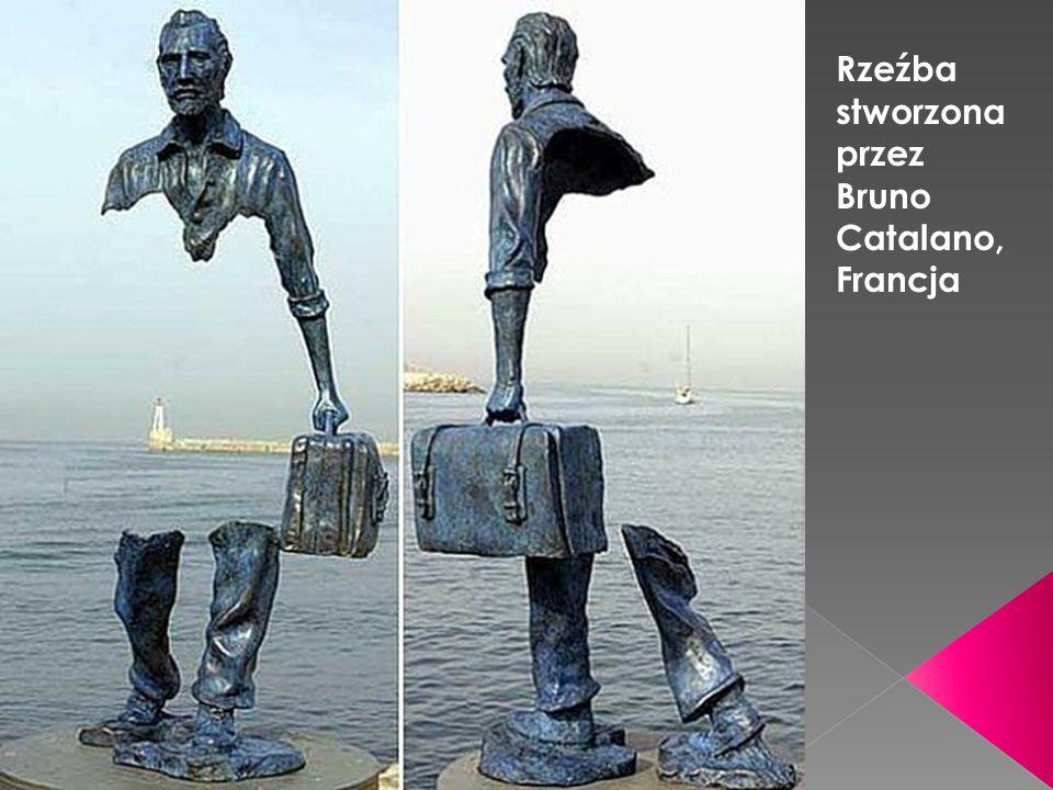 Rzeźba stworzona przez Bruno Catalano, Francja