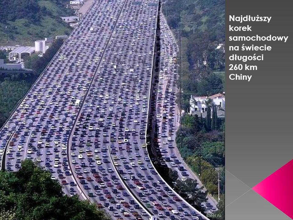 Najdłuższy korek samochodowy na świecie długości