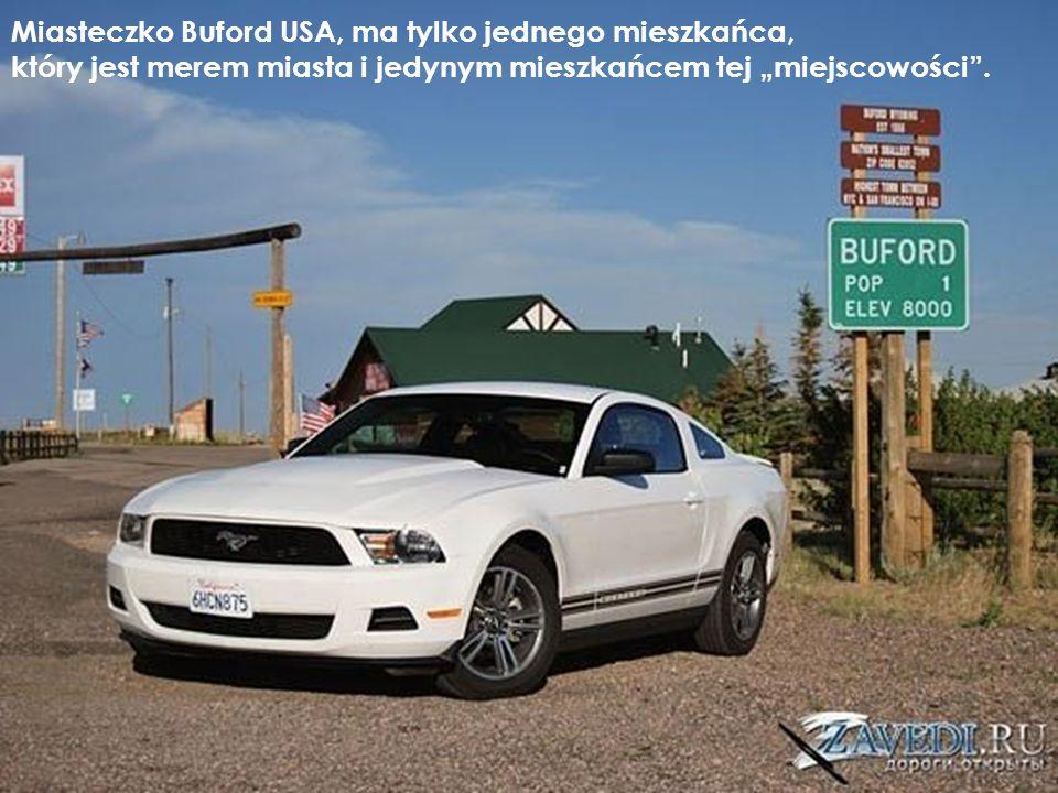 Miasteczko Buford USA, ma tylko jednego mieszkańca,