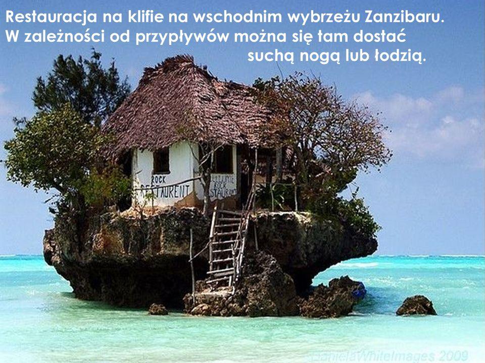 Restauracja na klifie na wschodnim wybrzeżu Zanzibaru.