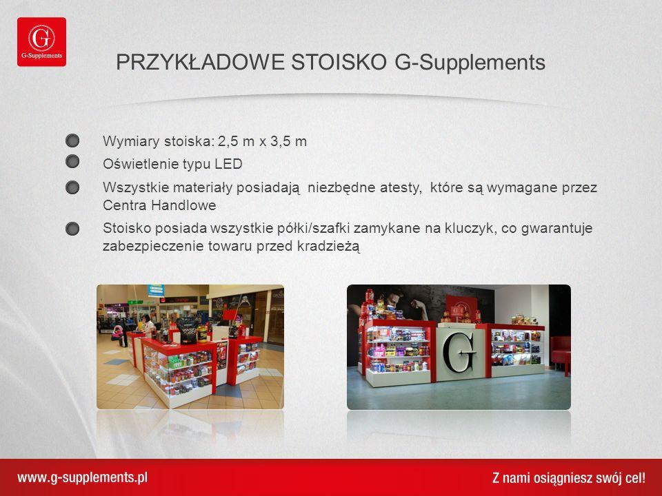 PRZYKŁADOWE STOISKO G-Supplements