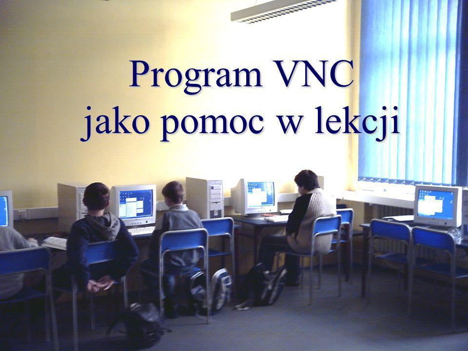 Program VNC jako pomoc w lekcji