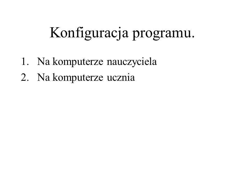 Konfiguracja programu.