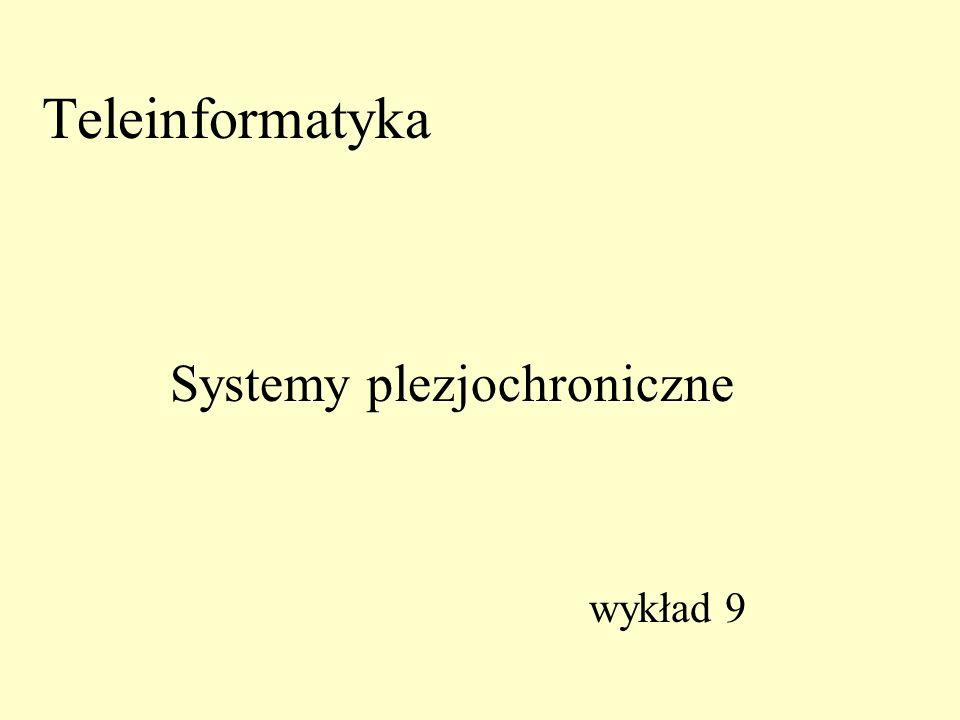 Teleinformatyka Systemy plezjochroniczne wykład 9
