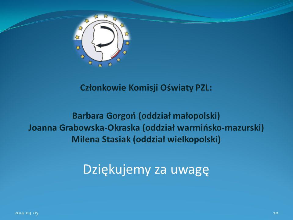 Członkowie Komisji Oświaty PZL: