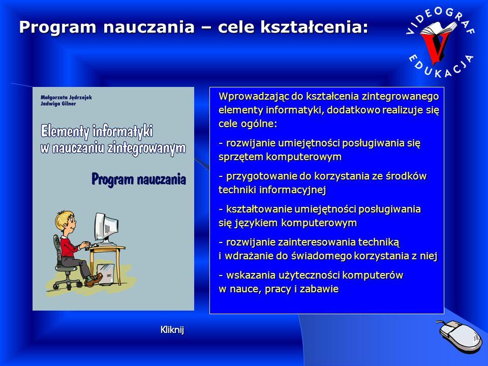 Program nauczania – cele kształcenia: