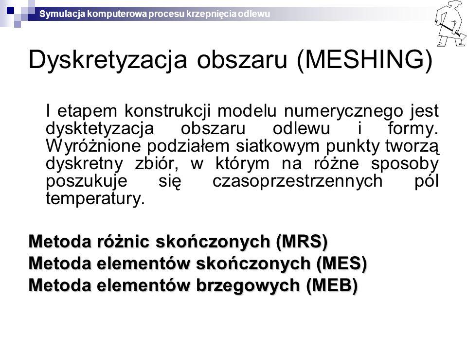 Dyskretyzacja obszaru (MESHING)