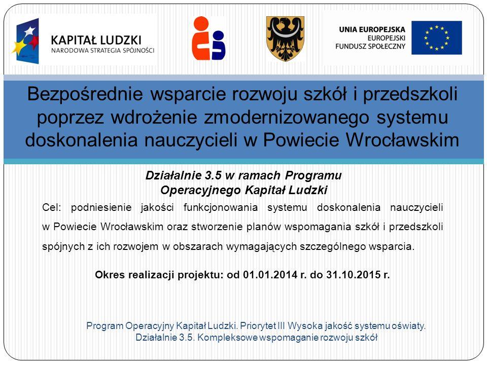 Bezpośrednie wsparcie rozwoju szkół i przedszkoli poprzez wdrożenie zmodernizowanego systemu doskonalenia nauczycieli w Powiecie Wrocławskim
