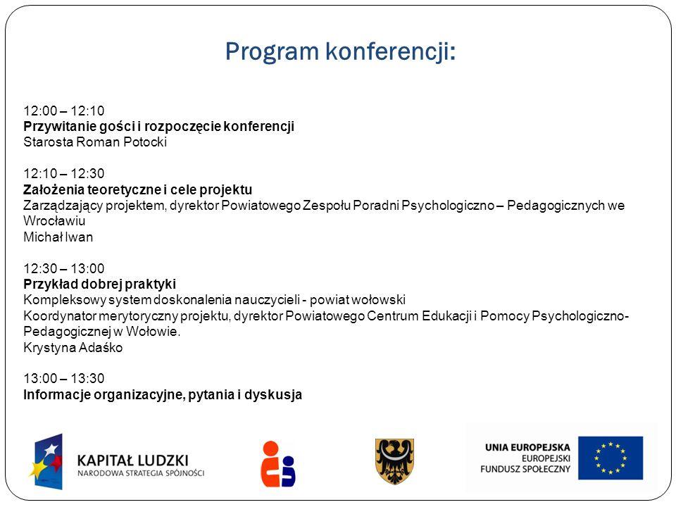 Program konferencji: 12:00 – 12:10