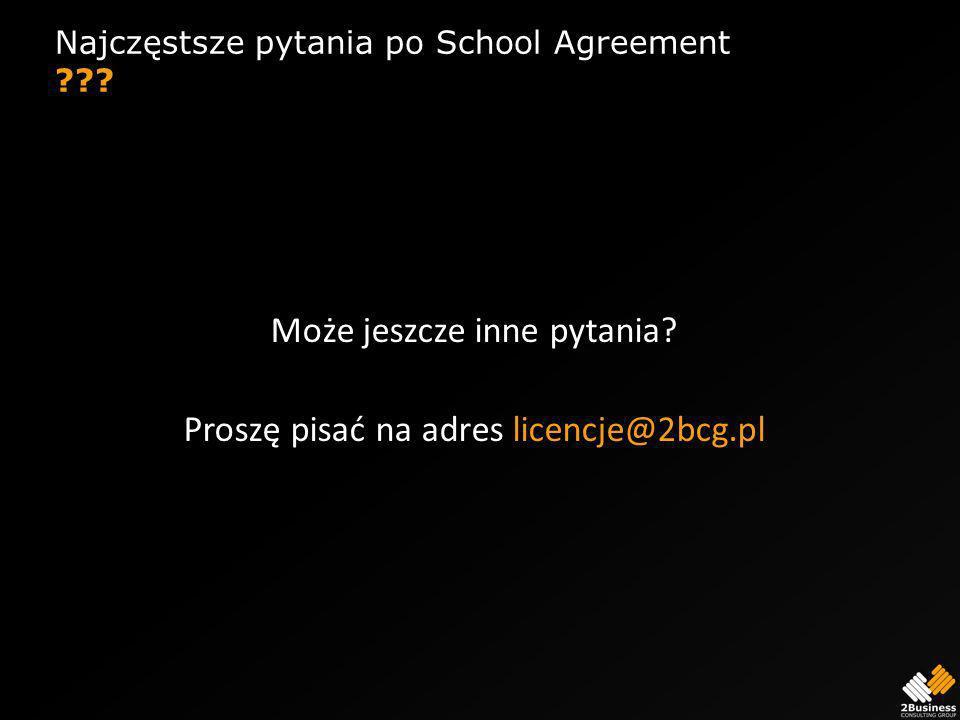 Najczęstsze pytania po School Agreement