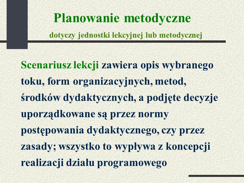 Planowanie metodyczne