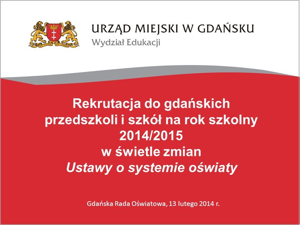 Rekrutacja do gdańskich przedszkoli i szkół na rok szkolny 2014/2015