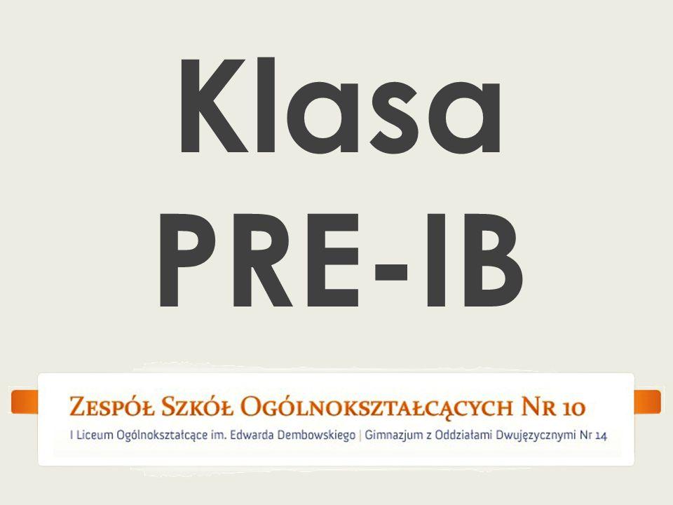 Klasa PRE-IB