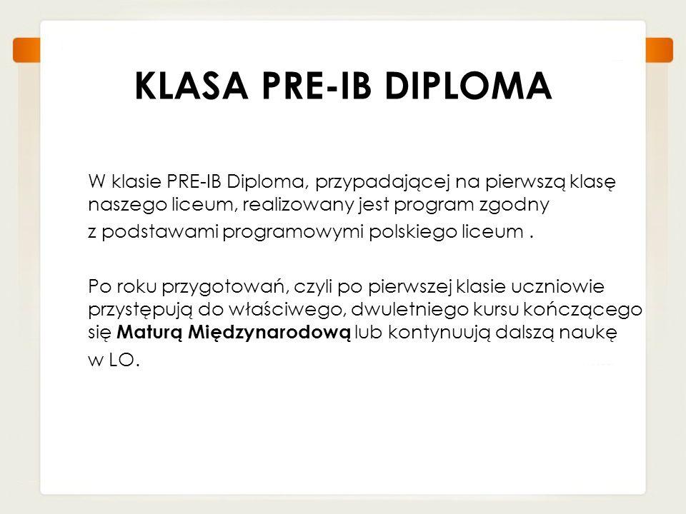KLASA PRE-IB DIPLOMA