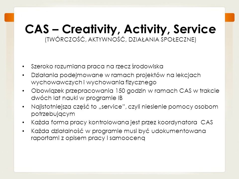 CAS – Creativity, Activity, Service