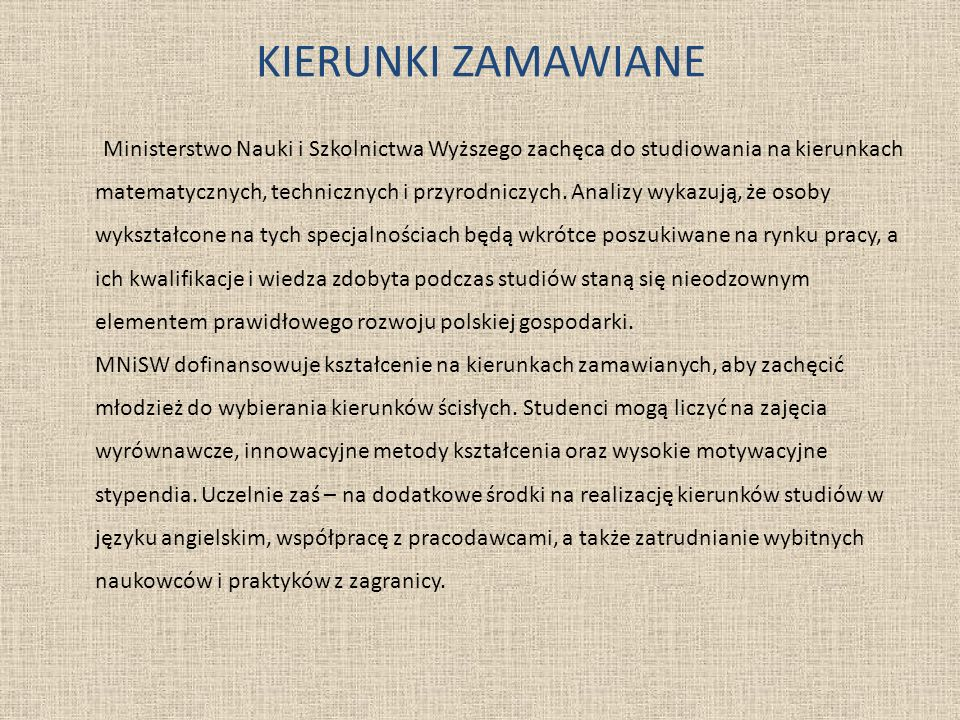 KIERUNKI ZAMAWIANE
