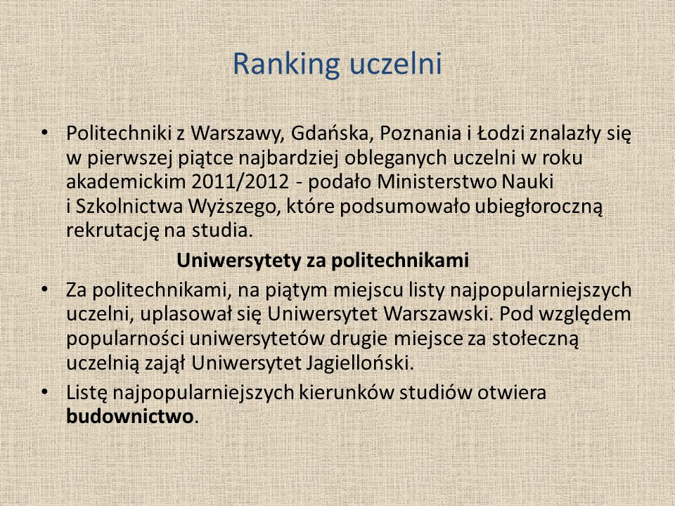 Ranking uczelni