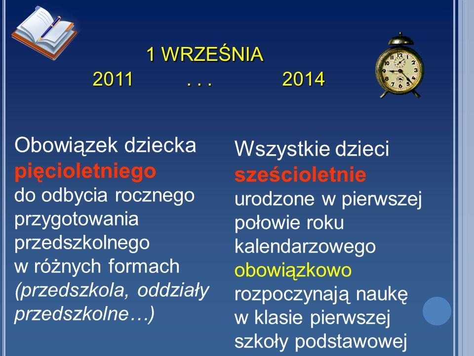 1 WRZEŚNIA 2011 . . . 2014