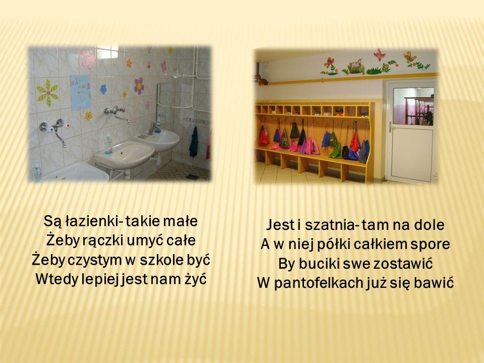 Są łazienki- takie małe Żeby rączki umyć całe