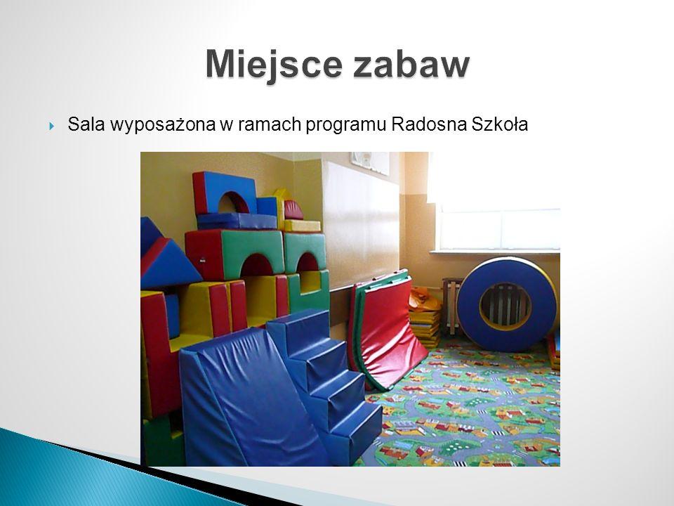 Miejsce zabaw Sala wyposażona w ramach programu Radosna Szkoła