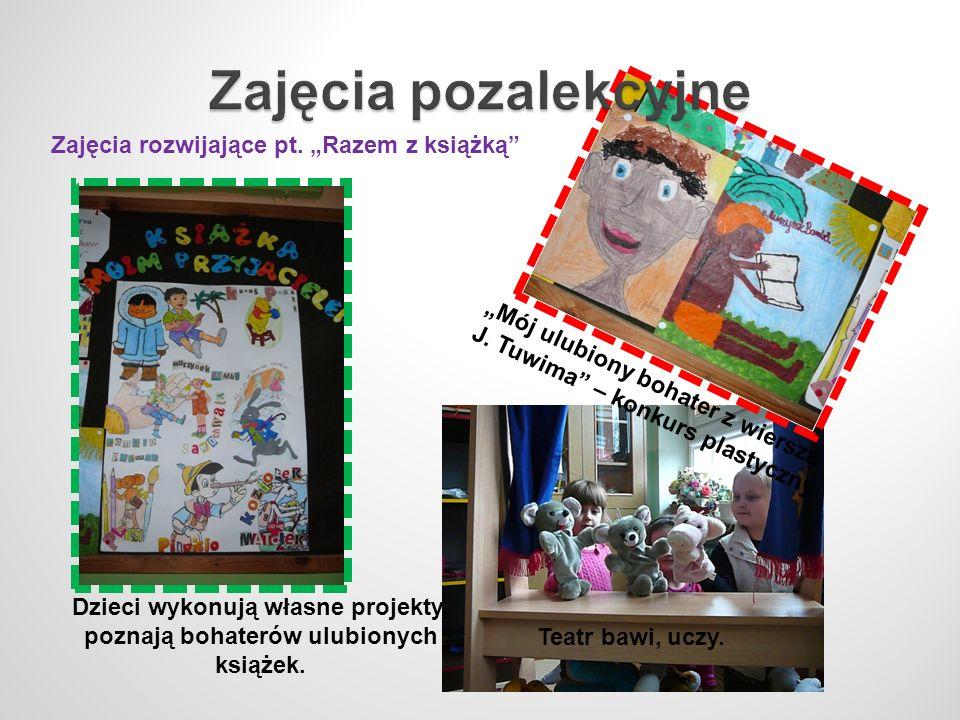 """Zajęcia pozalekcyjne Zajęcia rozwijające pt. """"Razem z książką"""