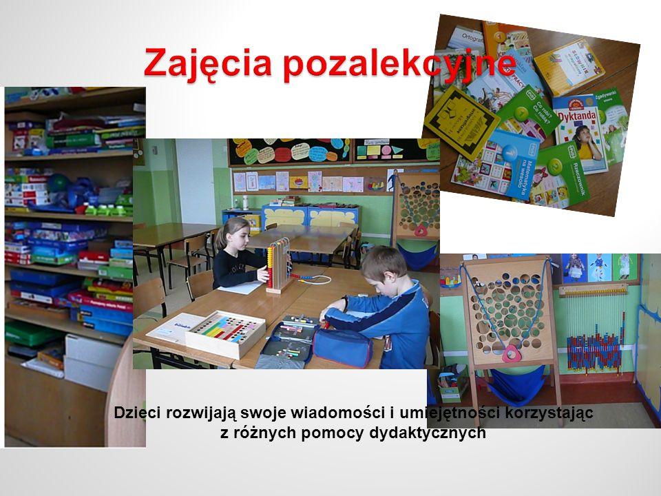 Zajęcia pozalekcyjne Dzieci rozwijają swoje wiadomości i umiejętności korzystając.