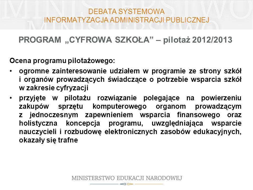 DEBATA SYSTEMOWA INFORMATYZACJA ADMINISTRACJI PUBLICZNEJ