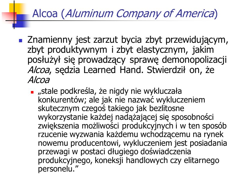 Alcoa (Aluminum Company of America)