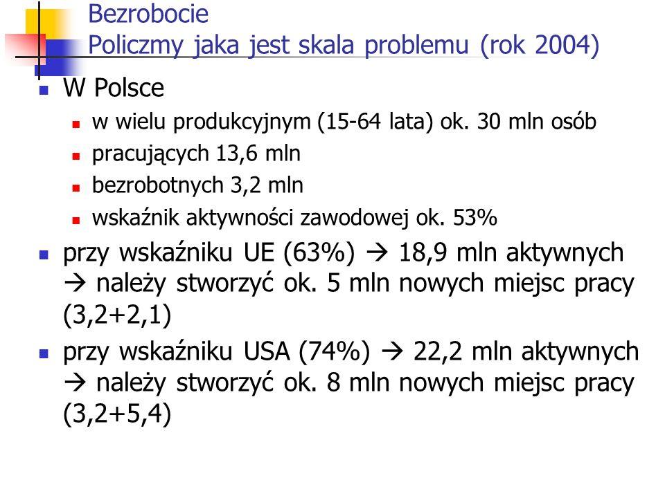 Bezrobocie Policzmy jaka jest skala problemu (rok 2004)