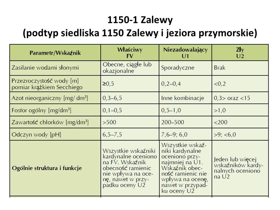 1150-1 Zalewy (podtyp siedliska 1150 Zalewy i jeziora przymorskie)