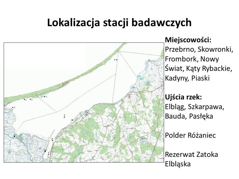 Lokalizacja stacji badawczych