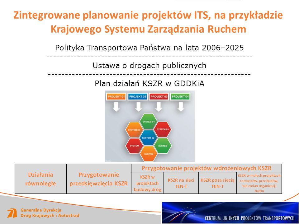 Zintegrowane planowanie projektów ITS, na przykładzie Krajowego Systemu Zarządzania Ruchem