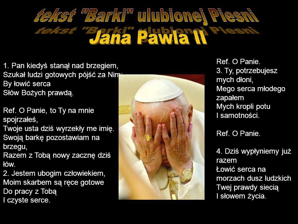 tekst Barki ulubionej Piesni