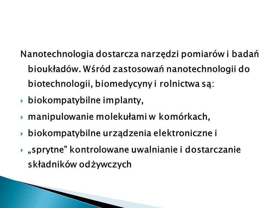Nanotechnologia dostarcza narzędzi pomiarów i badań bioukładów