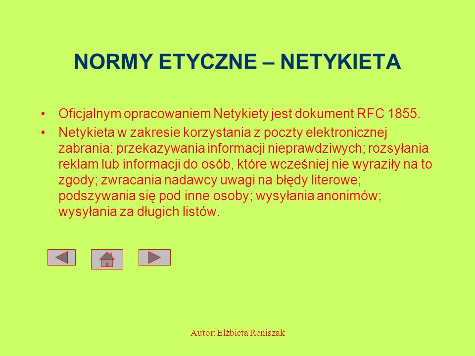 NORMY ETYCZNE – NETYKIETA