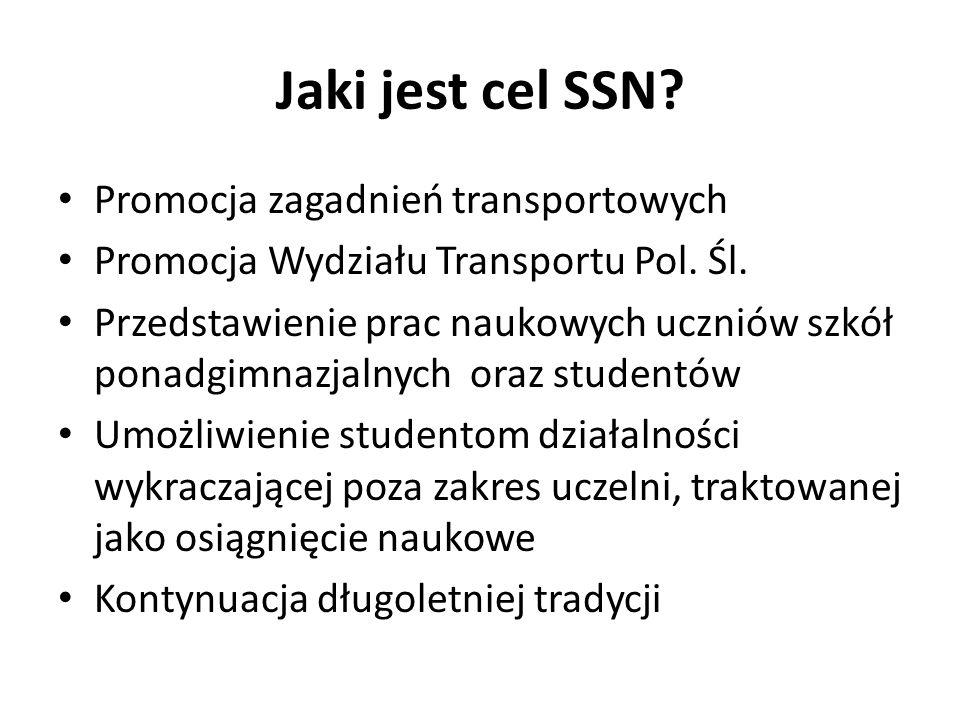 Jaki jest cel SSN Promocja zagadnień transportowych