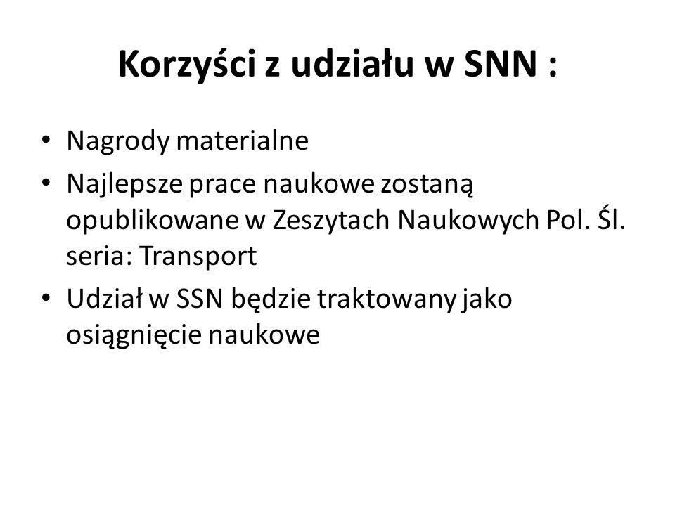 Korzyści z udziału w SNN :