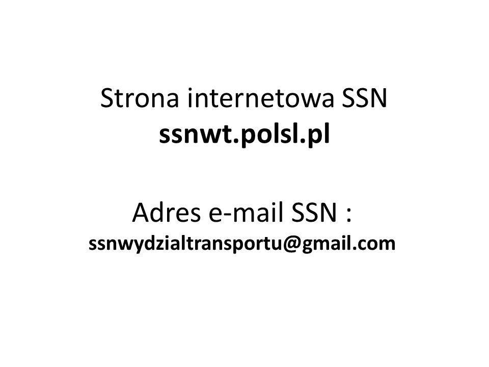 Strona internetowa SSN ssnwt.polsl.pl