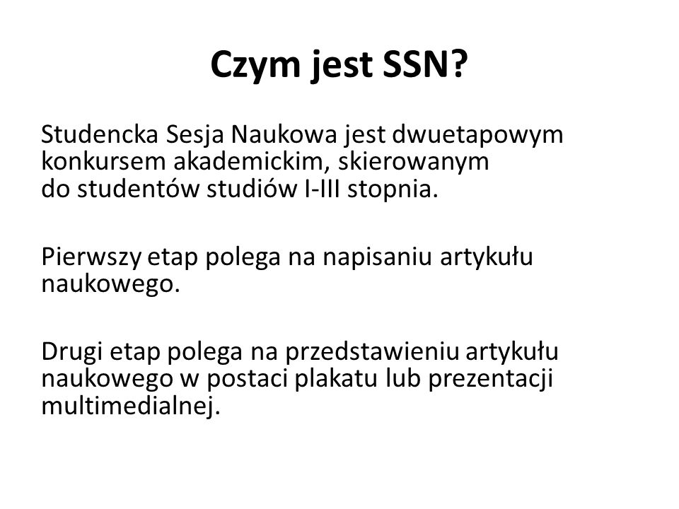 Czym jest SSN